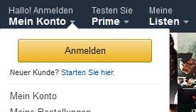 Amazon de mein konto