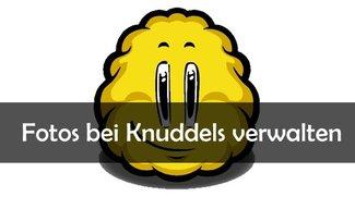 Knuddels: Fotos hochladen, verschicken und löschen