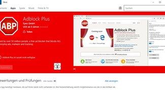 Microsoft Edge: AdBlock und AdBlock Plus im Windows Store gelandet