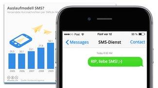 SMS weiter im freien Fall: WhatsApp und Co. triumphieren