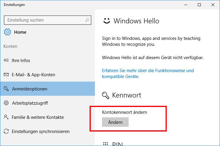 windows live id ändern