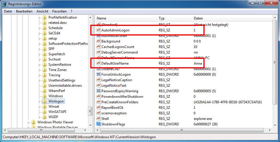 Как в windows сделать автологин в windows 7