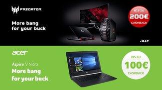 Acer V Nitro und Predator: Bis zu 200 Euro Cashback beim Kauf absahnen