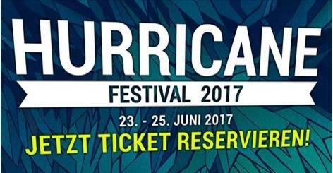 Neue Bandwelle für das Hurricane 2017: Headliner, Tickets und Line Up (Update)