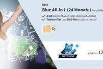 Blue All-in L: Allnet-Flat mit 4 GB LTE-Datenvolumen und EU-Flat für 12,49 Euro im Monat