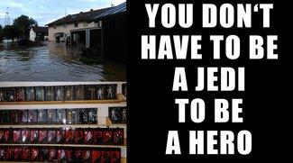 Star-Wars-Sammler wollte nach Hochwasser seine Kollektion verkaufen: Stattdessen startet er einen Spendenmarathon