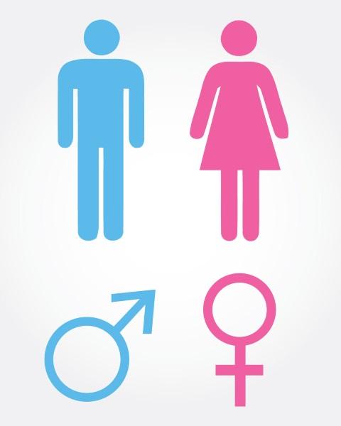 Männlich- und Weiblich-Zeichen mit der Tastatur am PC und
