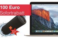 Gutscheincode:<b> Sofortrabatt plus Soundstation im Wert von 229 Euro beim Kauf eines MacBooks, iMacs oder Mac Pro</b></b>