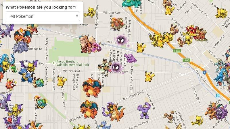 Die App Poke Radar zeigt euch, wo andere Trainer welche Pokémon gefunden haben. (Bildquelle: lifehacker)