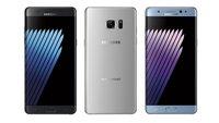 Samsung Galaxy Note 7 Farben: Black Onyx, Silver Titanium, Blue Coral und Gold Platinum - Überblick