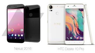 Recyceltes Design: Die neuen Nexus-Smartphones ähneln frappierend dem HTC Desire 10 Pro