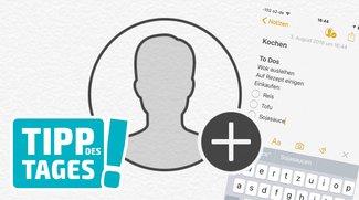 Notizen in iOS 10 mit anderen Personen teilen