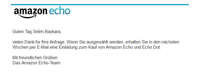 amazon echo ohne einladung bekommen und alexa kaufen – so geht's, Einladung
