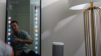 Apple Mirror, das riesige Spiegel-iPad im Wohnzimmer (Studie)
