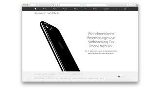 iPhone 7: Reservierung und Store-Abholung aktuell nicht mehr möglich