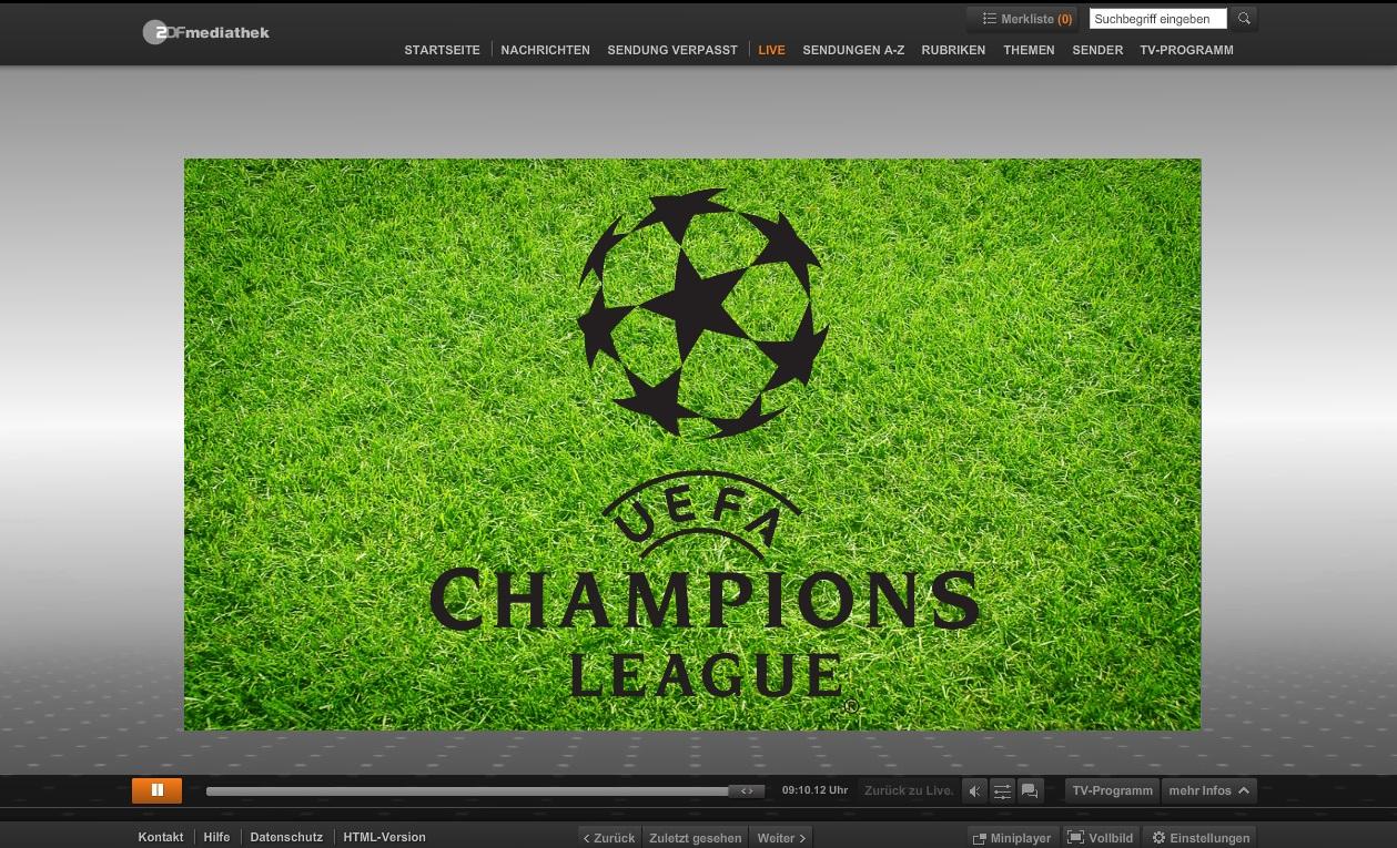 LiveTV.ru: Fußball Champions League im Live-Stream