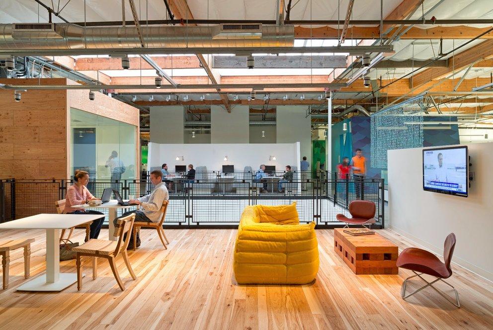 Aufenthaltsbereich auf dem Google Firmengelände in Mountain View. (Quelle: Google)