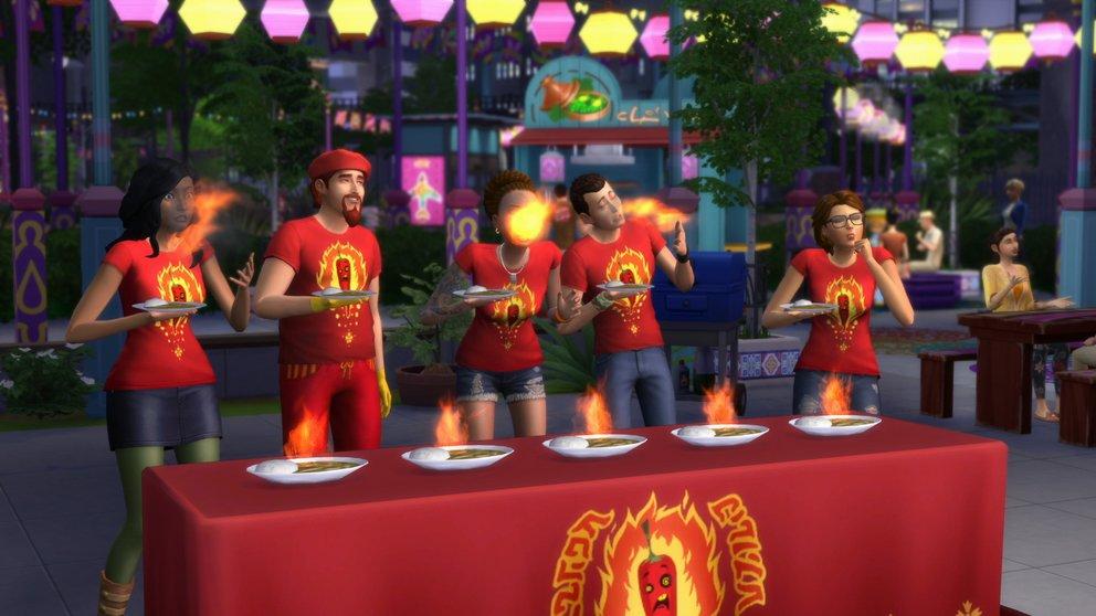 Auf den Festivals nehmen eure Sims an einzigartigen Wettbewerben teil.