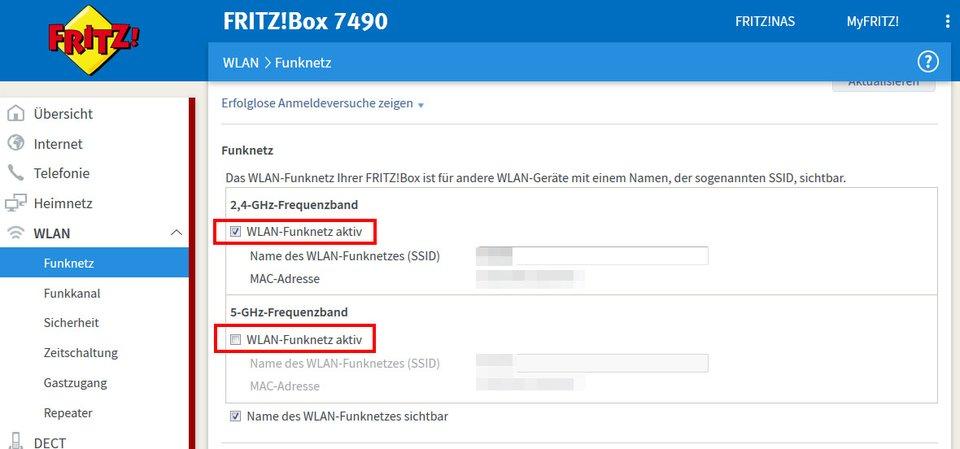 Fritzbox-Router: Hier deaktiviert ihr das WLAN.