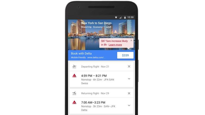 Günstige Flüge: Google Flights informiert ab jetzt über besten Buchungszeitpunkt