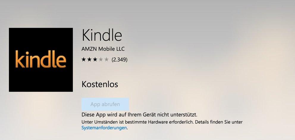 Kindle: Amazon stampft Windows-App ein