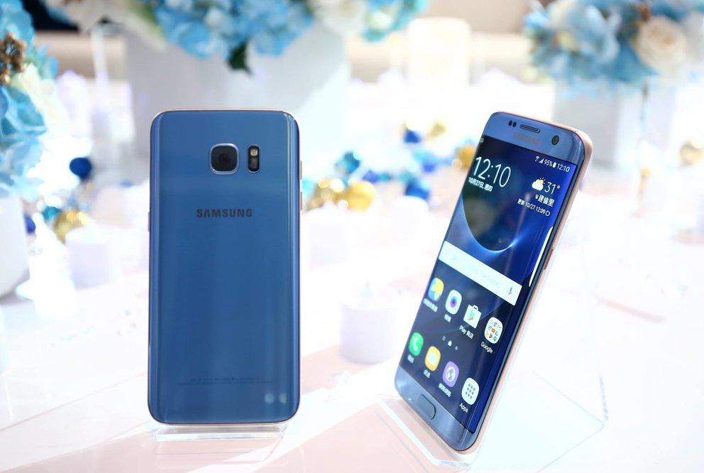 So schön ist das Samsung Galaxy S7 edge in Blue Coral