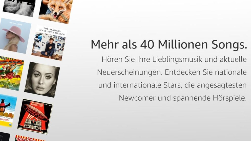 Amazon Music Unlimited Auswahl
