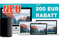 Bis zu 200 € Sofortrabatt für iMac, MacBook (Pro/Air) und Mac Pro</b>