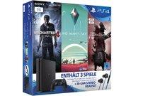 PS4 Slim 1 TB inklusive No Man's Sky, Bloodborne, Uncharted 4 und In-Ear-Headset für 299 Euro