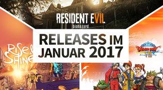 Release-Liste für Januar 2017: Diese Spiele warten auf Dich