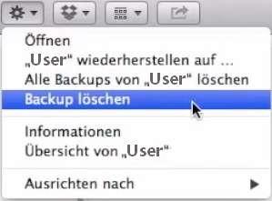 Time Machine Backup löschen