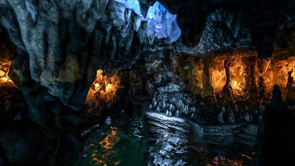 Die Höhle der verlorenen Hoffnung liegt tief im Meer. (Quelle: ark.gamepedia.com)