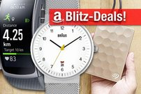 Blitzangebote:<b> Samsung Gear Fit 2, Braun-Uhren, Festplatten, Monitore u.v.m. heute kurze Zeit günstiger</b></b>