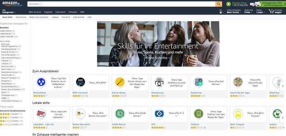 Amazon Echo Skill Store