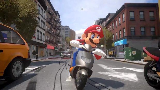 Super Mario Odyssey: So würde Marios Abenteuer in GTA wirklich aussehen