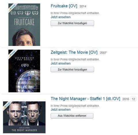 Auch bei Prime Video kann man viele Filme in OV sehen.