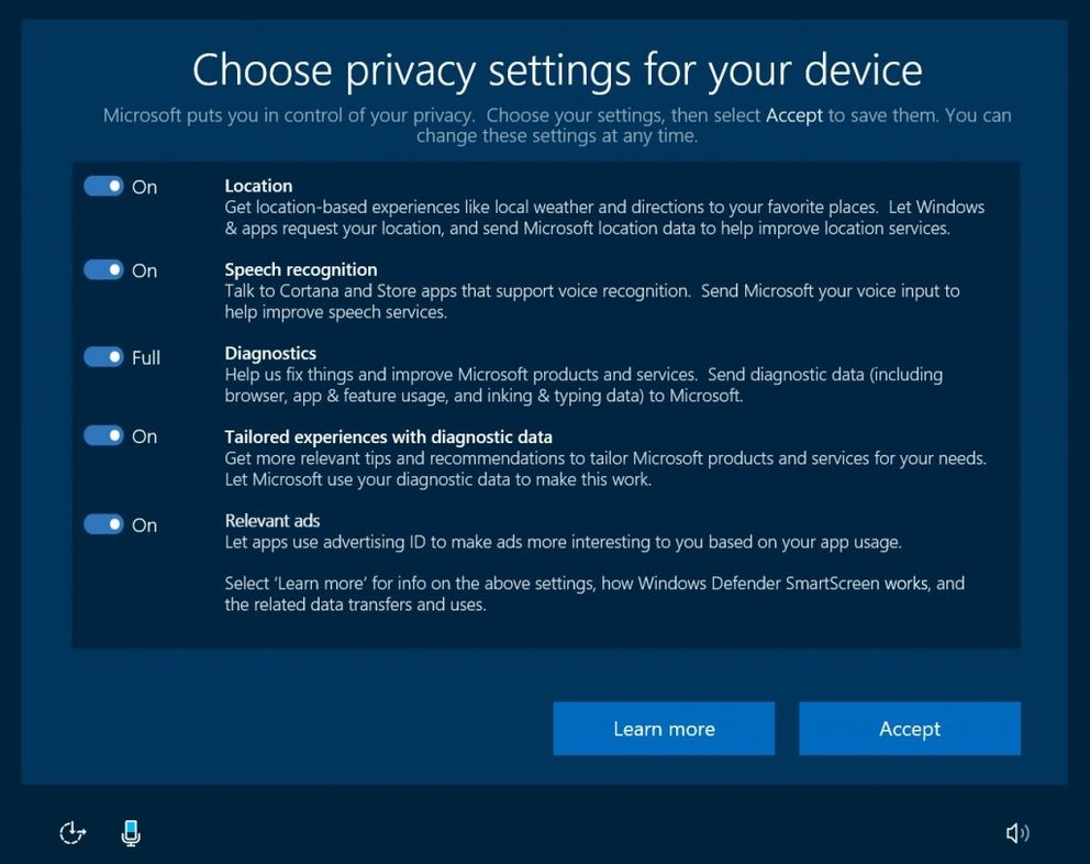 Windows 10 Creators Update Privatsphaere Einstellungen