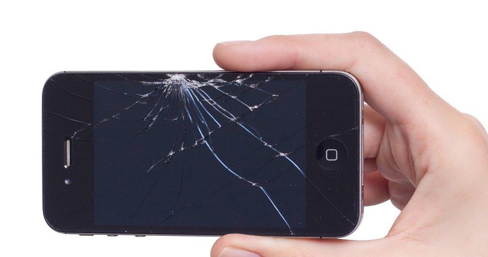 Zerbrochenes iPhone-Display (Quelle: Pixabay)
