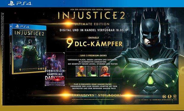 Injustice 2: Editionen, Vorbestellerbonus und Season Pass