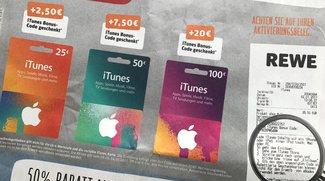 iTunes-Karten mit Rabatt im Januar 2017: Bonusguthaben bei drei Händlern