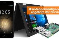 notebooksbilliger.de: Raspberry Pi 3 Multimedia Bundle, 10-Zoll-Convertible-Netbook u.v.m. stark reduziert