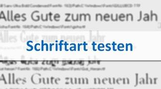 Schriftarten testen: so geht's