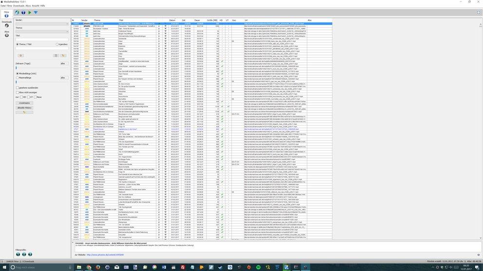 Auf einem 4K-Monitor mit 32 Zoll kann man in MediathekView kaum etwas erkennen