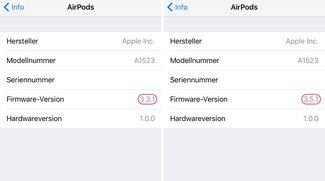 Apple AirPods erhalten Firmware-Update