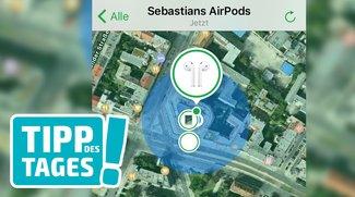 """AirPods finden, so gehts mit """"Mein iPhone suchen"""" in iOS 10.3"""