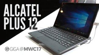 Alcatel Plus 12 im Hands-On-Video: Windows-Tablet mit LTE-Tastatur-Dock