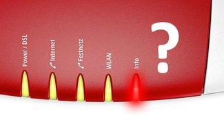 Fritzbox: Info-LED leuchtet rot – was bedeutet das?