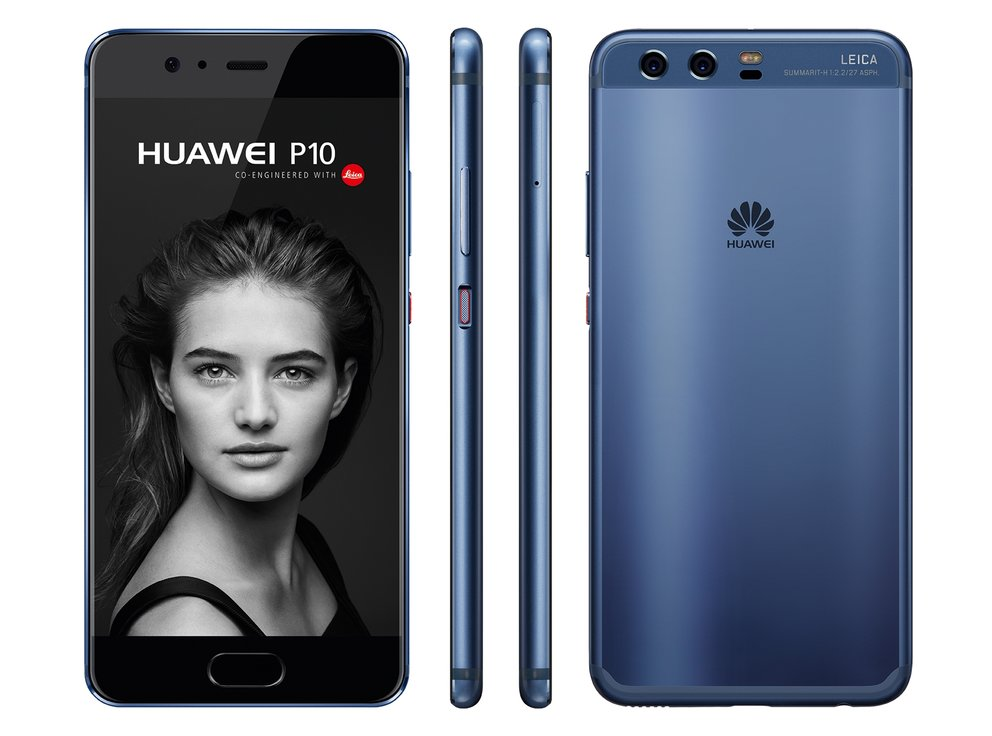 Das Huawei P10, hier in der blauen Version mit Hyper Diamond Cut Finish