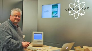 Mac SE aus dem Jahr 1987 besucht Genius Bar in Großbritannien