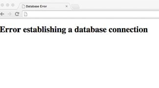 Lösung: Error establishing a database connection (Wordpress)